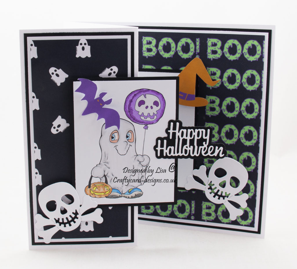 Handmade card using an image from The Paper Shelter called Spoooky